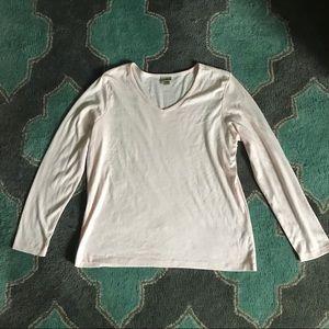 Tops - L.L. BEAN Supima Cotton Shirt Pastel Pink Size L